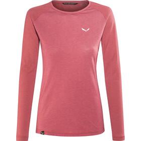 SALEWA Fanes Dri-Rel T-shirt à manches longues Femme, mineral red